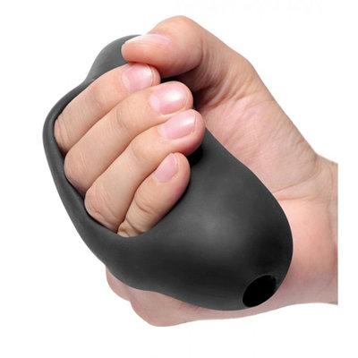 Masturbator Met Handvat - Zwart
